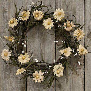 """Teastain Daisy & Pip 12"""" Wreath"""